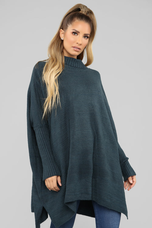 Abby Turtleneck Sweater - Green