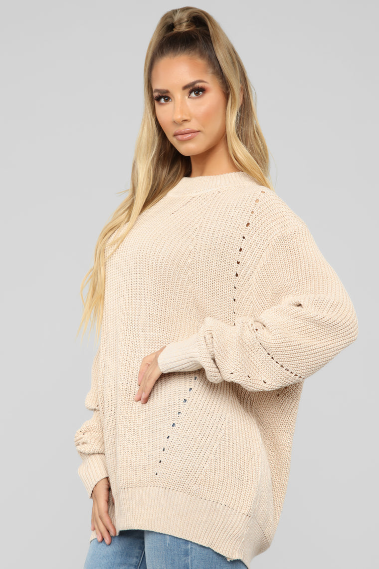 Laugh It Off Sweater - Natural