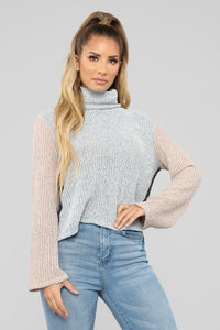 Not The Same Sweater - Grey/combo