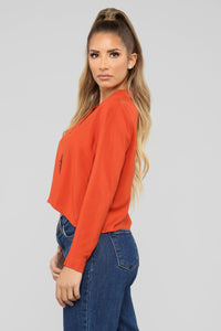 Stormi Button Shirt - Rust