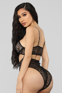 I Think I Love You 2 PC Set - Black