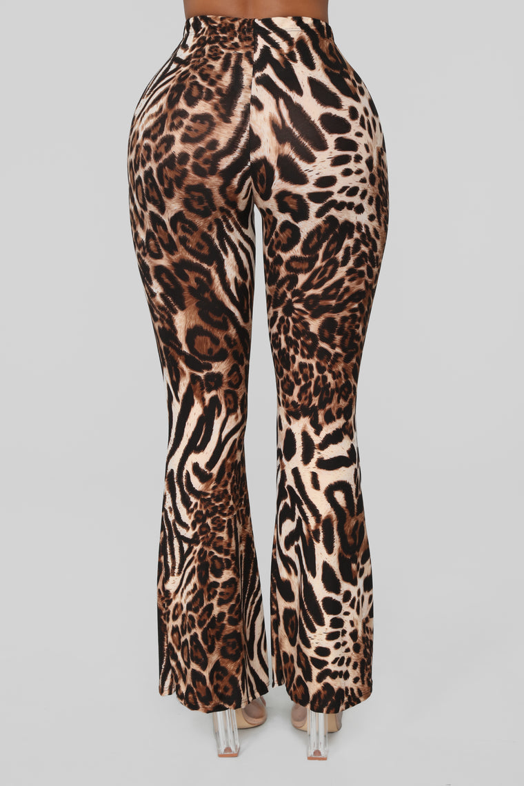 Catty Girl Leopard Pants - Brown/Combo