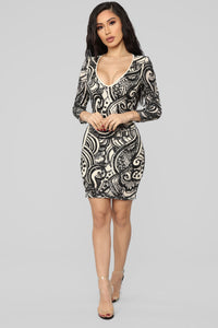 Getting You Close Sequin Dress - Black