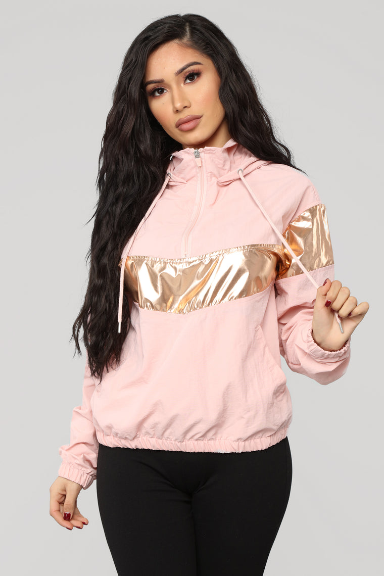 Front Row Seats Windbreaker Jacket - Blush