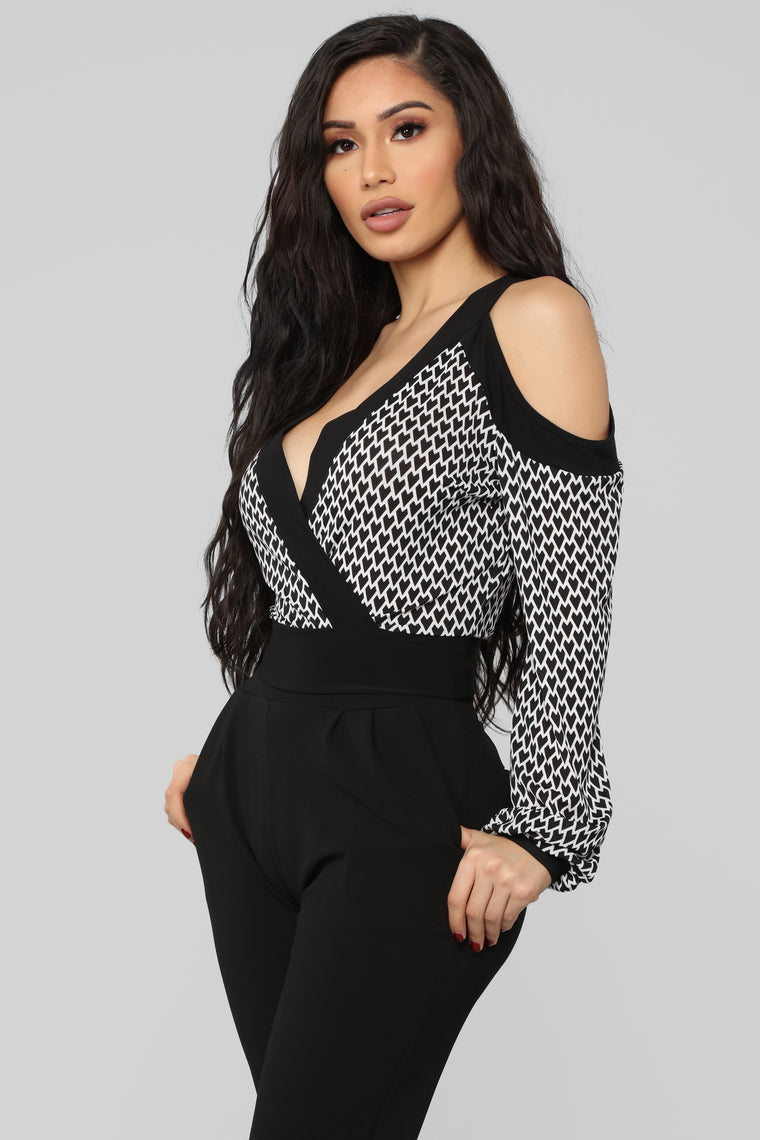 Don't Compare Me Top - Black/Combo