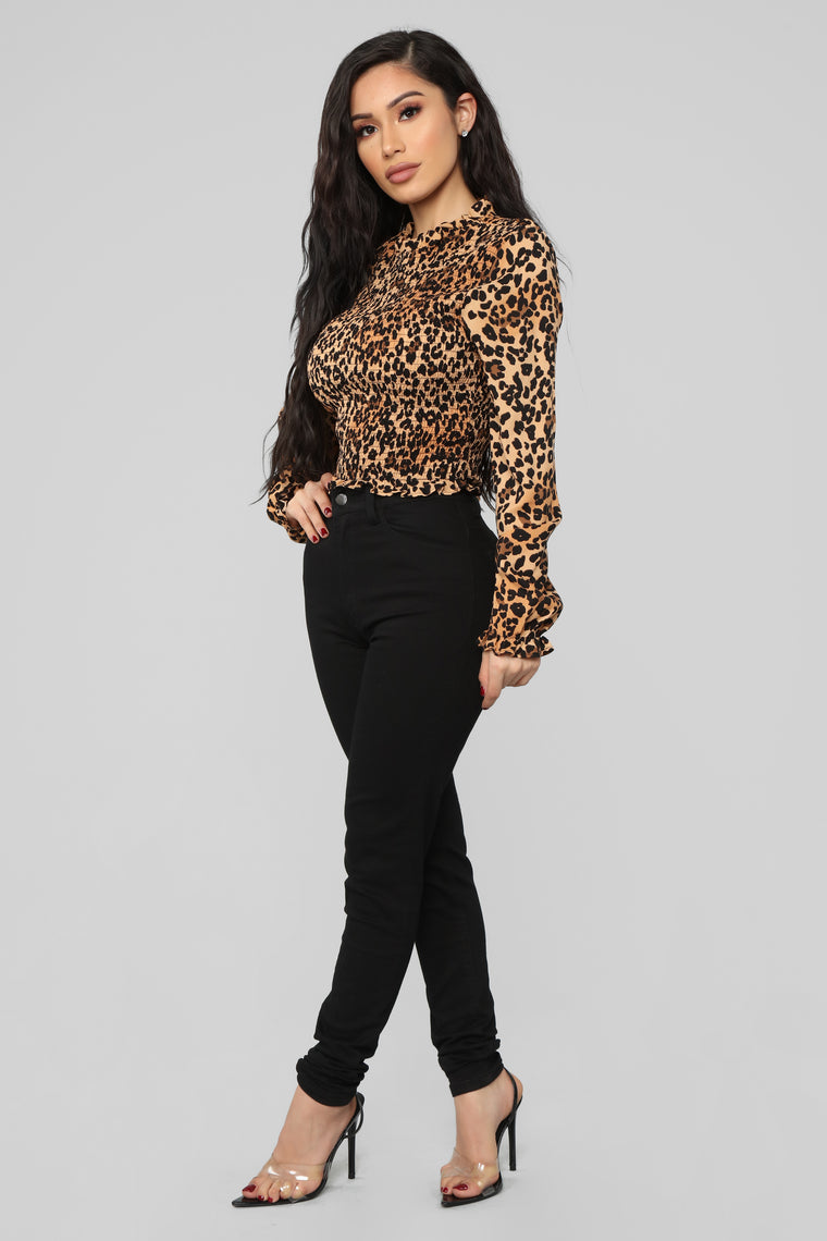 Let's Go On A Date Top - Leopard