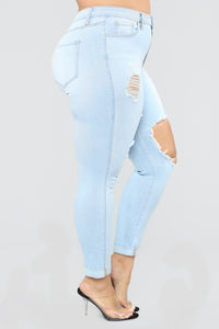 Glistening Jeans - Light Blue Wash