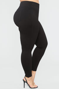 Shape Your Booty Leggings - Black