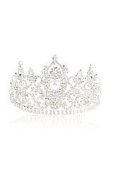 A Queen Is Never Late Tiara   Silver by Fashion Nova