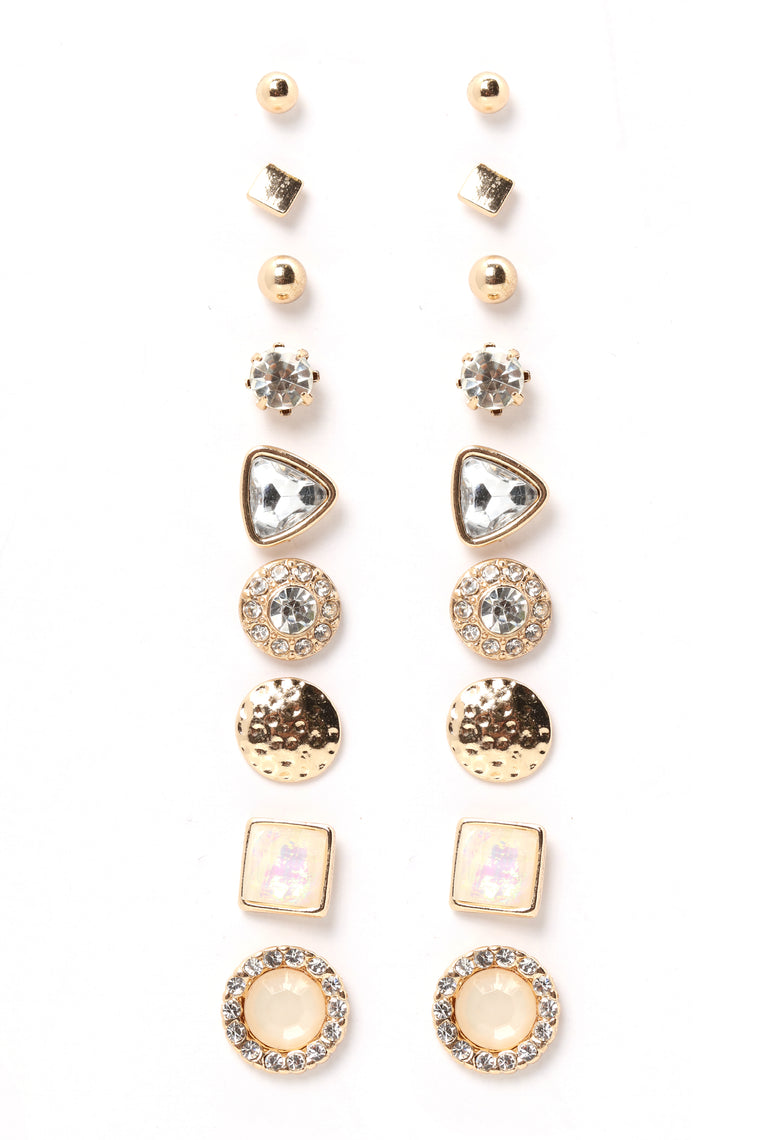 Giving You The Most Earring Set - Gold