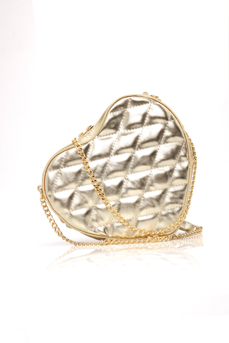 Pretty Heart To Find Bag - Gold