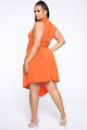 Totally Into Me Midi Dress - Orange