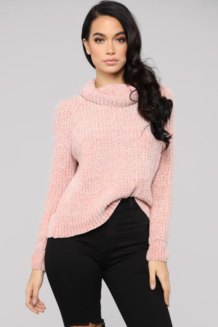 Margaret Turtleneck Sweater   Pink by Fashion Nova