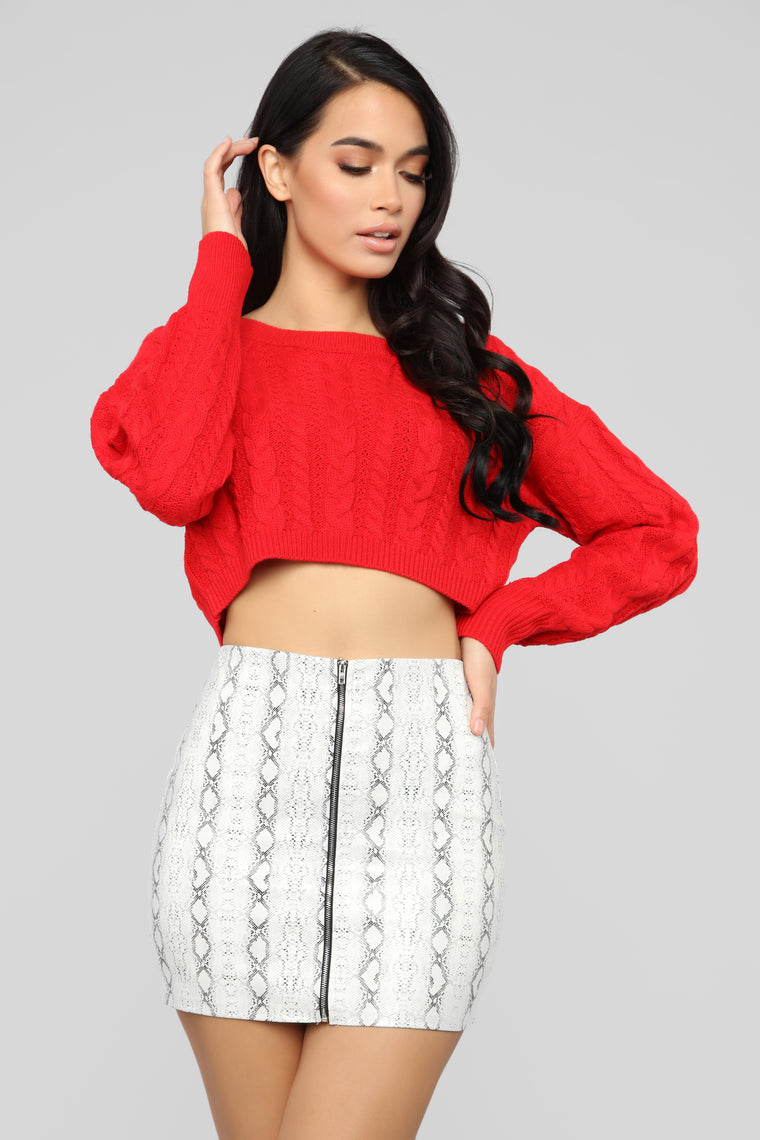 Let You Love Me Sweater   Red by Fashion Nova
