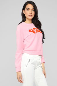 Vibe Attracts Tribe Sweater - Pink