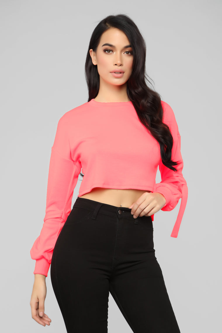 Knot Dealing With You Top - Neon Pink