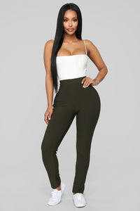 Not Your Average Booty Lifting Leggings - Olive Angle 1