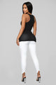 Zoey Racer Back Tank - Black