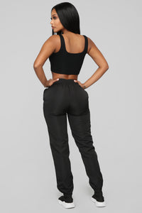 Lianna Lounge Windbreaker Jogger - Black
