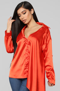 Love No More Blouse - Orange