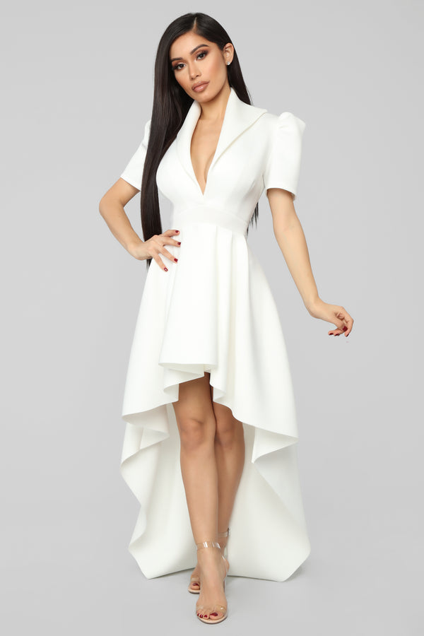 636d86aec1 Another Night High Low Dress - Ivory