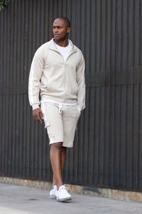 Post Cargo Short - Stone/White Angle 1