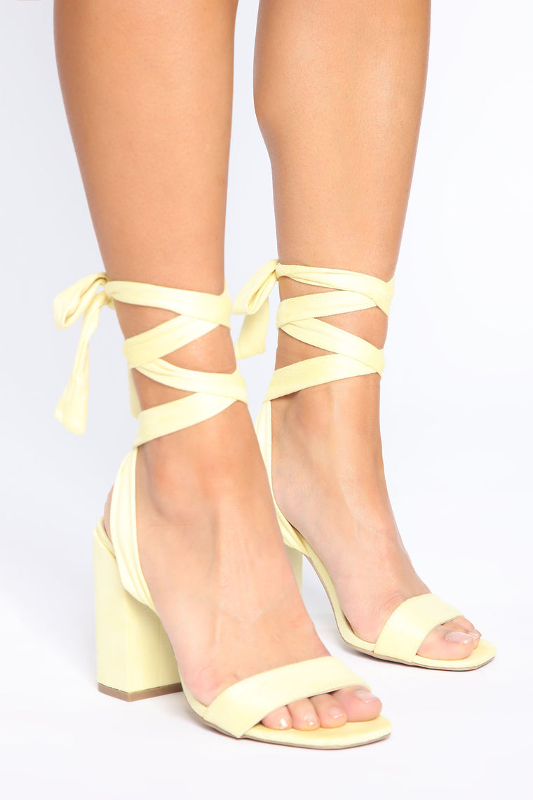 Sweet Lover Heeled Sandals - Yellow
