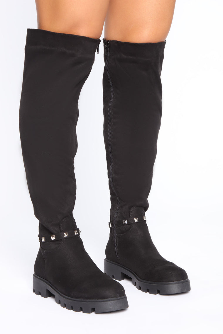 Meant To Be Here Boots - Black