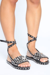 Sharper Than She Appears Sandals - Black