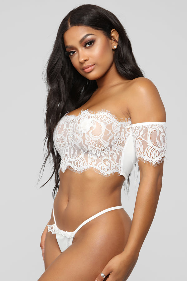 037f9949d Love Me Tomorrow Lace 3 Piece Set - White