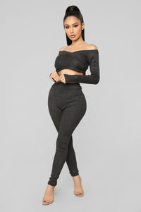 Gotta Warm Up To Me Sweater Set - Black