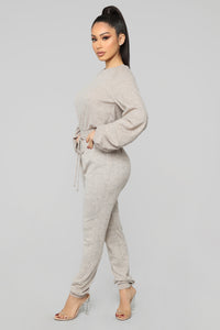 Chill Pill Jogger Set - Mocha