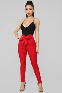 Knot Your Girl Pants - Red