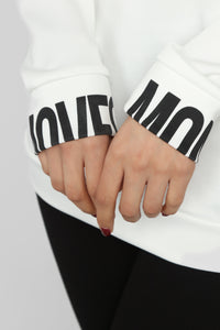 Big Money Moves Sweatshirt - White