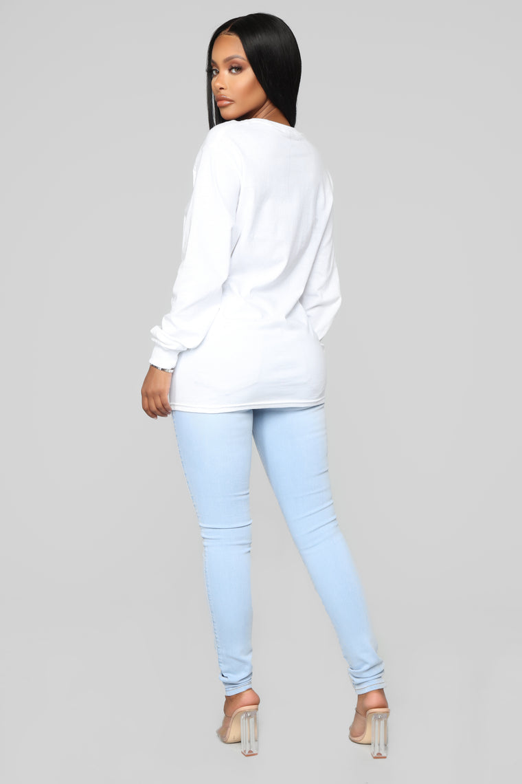 Classic Mid Rise Skinny Jeans - Light Blue Wash