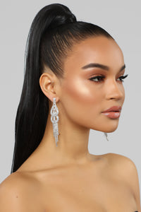 Drip Drop Earrings - Silver