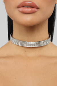 Shine So Bright Choker - Silver