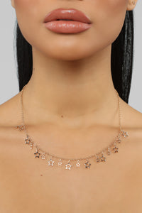 Twinkle Twinkle Necklace - Gold Angle 2