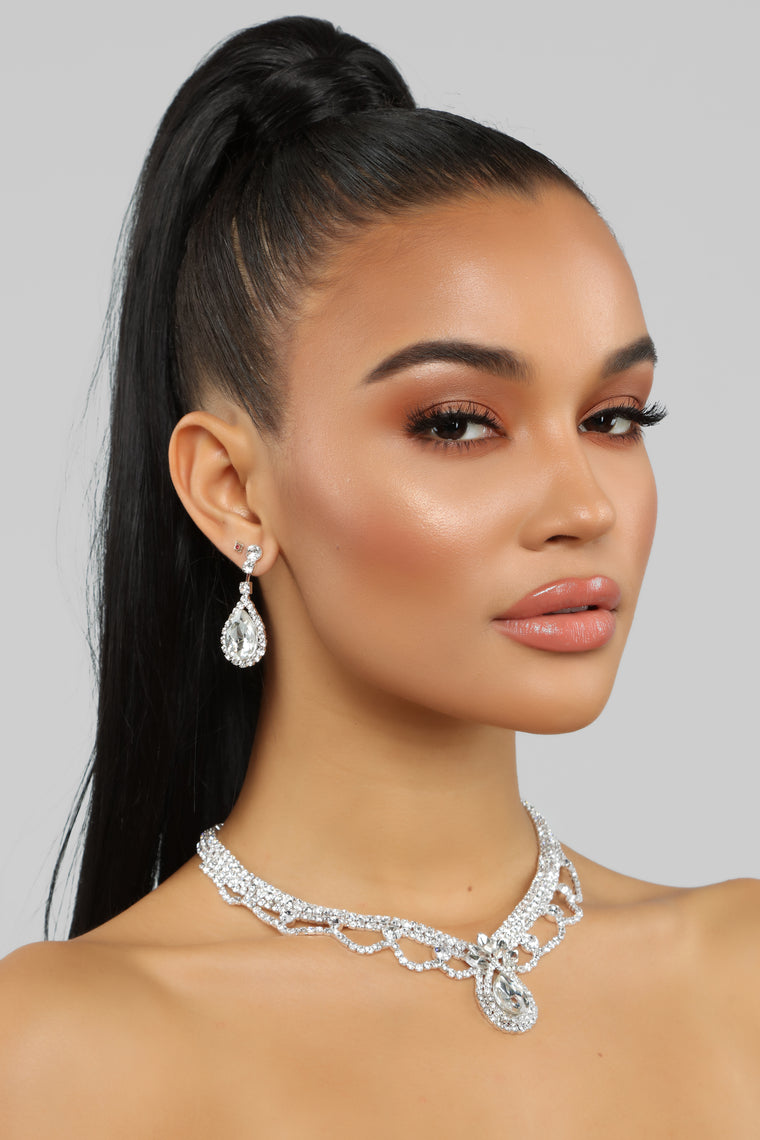 Oh You Fancy Necklace Set - Silver