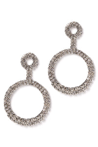 Keep It In The Circle Earrings - Silver Angle 2