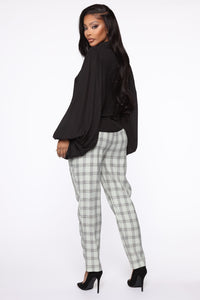 Executed The Task Plaid Trousers - Mint/combo Angle 6