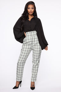 Executed The Task Plaid Trousers - Mint/combo Angle 2