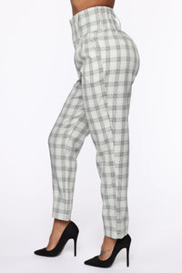 Executed The Task Plaid Trousers - Mint/combo Angle 3