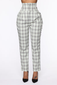 Executed The Task Plaid Trousers - Mint/combo Angle 1
