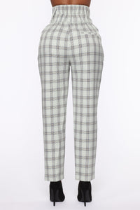 Executed The Task Plaid Trousers - Mint/combo Angle 5
