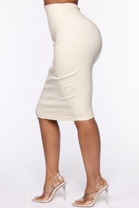 I See You Looking Super High Waist Skirt - Beige