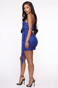 Feel The Electricity Sequin Mini Dress - Royal Angle 3
