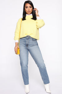 Knit Into You Sweater - Yellow Angle 2