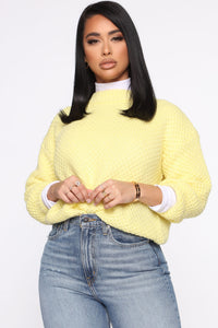 Knit Into You Sweater - Yellow Angle 1