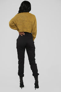 Cozy Mock Neck Top - Mustard